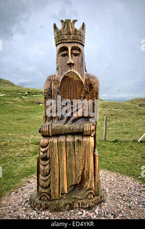 This is the area where the chessmen were found on the beach at Uig On The Isle of Lewis in the Outer Hebrides, Scotland - Stock Photo
