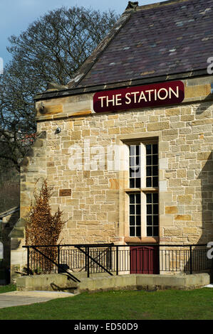 Richmond Station in Yorkshire - Stock Photo