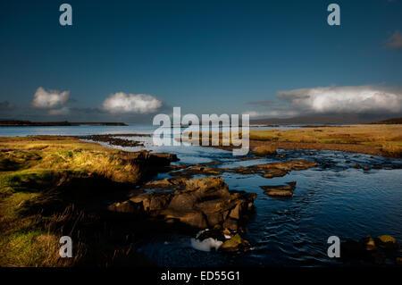 Lower Breaknish on the Isle of Skye, Scotland - Stock Photo