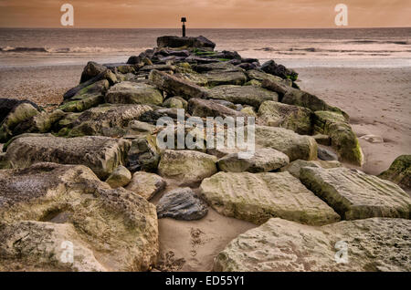 Late afternoon over at Hengistbury Head in Dorset. - Stock Photo