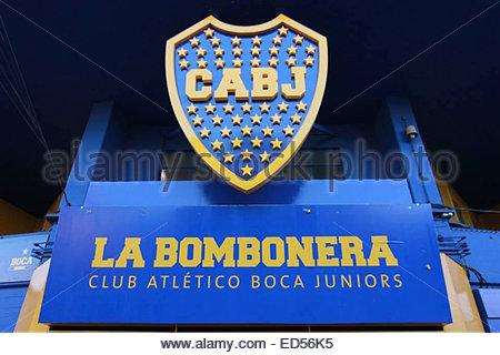 La Bombonera stadium, home of Boca Juniors football club in Buenos Aires, Argentina. - Stock Photo