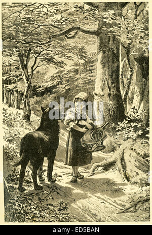 In 1812, the Grimm brothers, Jacob and Wilhelm, published Children and Household Tales, a collection German fairy - Stock Photo