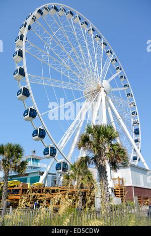 Sky Wheel Myrtle Beach Boardwalk, South Carolina, USA - Stock Photo