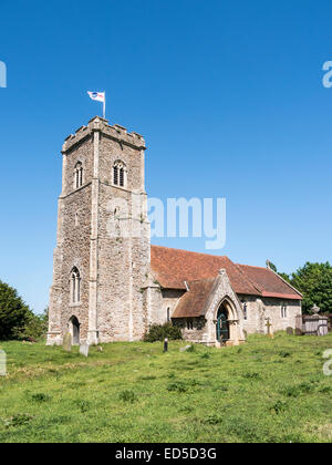 The Church of St Margaret of Antioch in the picturesque village of Shottisham, Suffolk. - Stock Photo