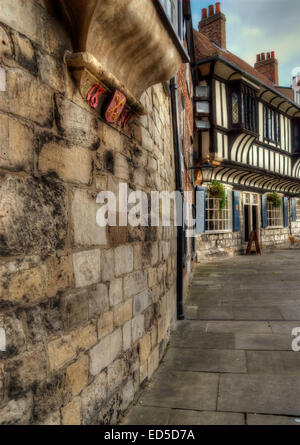 One of the many wonderful scenes from York, North Yorkshire. - Stock Photo