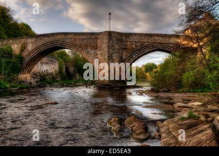 The County Bridge at Barnard Castle, County Durham. - Stock Photo