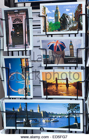 Postcards of London England - Stock Photo