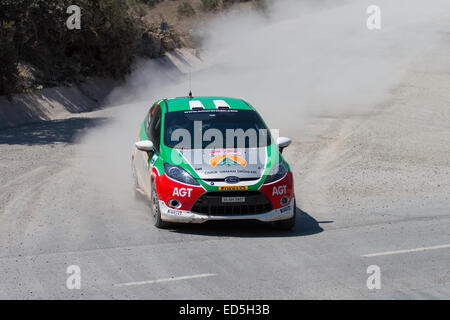ISTANBUL, TURKEY - JULY 13, 2014: Control car in 35. Istanbul Rally, Ulupelit ITO Stage - Stock Photo