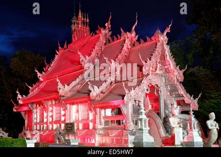 Wat Sri Suphan (Silver Temple), Chiang Mai, Thailand - Stock Photo