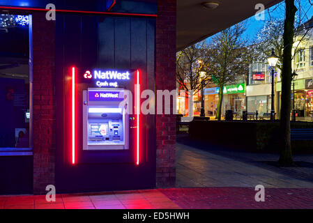 NatWest Bank ATM, Burnley, Lancashire, England UK - Stock Photo