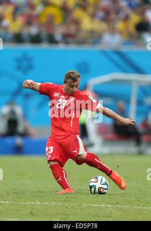 2014 FIFA World Cup - Group E - Honduras v Switzerland (0-3) at Arena Amazônia  Where: Manaus, Brazil When: 25 Jun - Stock Photo