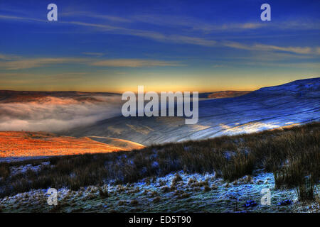 A cloud in version in Swaledale / Wensleydale as seen from the Buttertubs in the Yorkshire Dales National Park, - Stock Photo