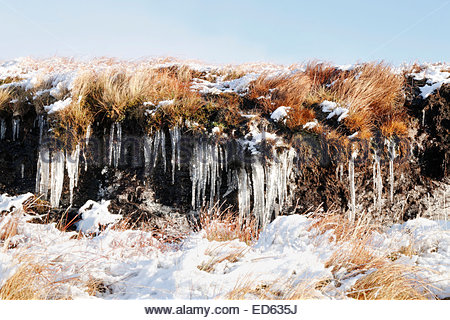 Middleton-in-Teesdale, UK. 29th December, 2014. UK Weather: After the lowest temperatures of 2014 for England, Wales - Stock Photo