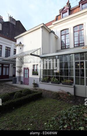 General Charles de Gaulle's birthplace,(maison natale de Charles de Gaulle), at 9 rue Princesse, Lille, Nord, France - Stock Photo