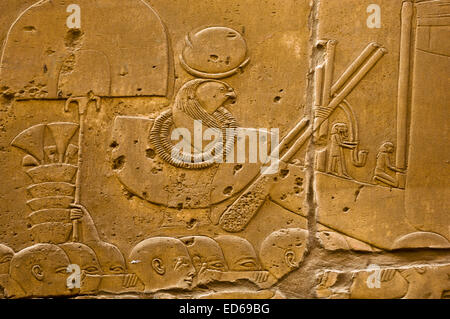 Egypt, Upper Egypt, Nile Valley, Luxor, Karnak Temple - Stock Photo