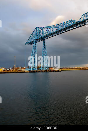 The Transporter Bridge in Middlesbrough - Stock Photo