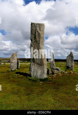 The Callanish Stone Circle on the Isle of Lewis, Outer Hebrides, Scotland - Stock Photo