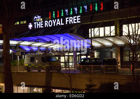 Royal Free Hospital, Hampstead, London, UK. 29th December, 2014.  Royal Free Hospital where the latest Ebola patient - Stock Photo