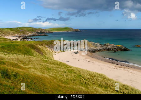 The views from Northern Scotland some 3 miles from Durness - Stock Photo