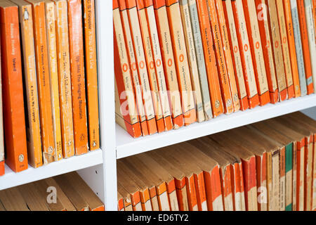 vintage paperbacks published by Penguin Books - late 1940s to late 1960s - Stock Photo