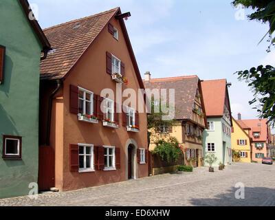 Houses of Dinkelsbühl - Stock Photo
