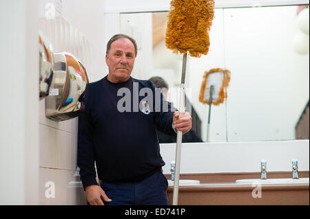 ROB RUSSELL, toilet attendant / cleaner : winner of the  Wales Individual Attendant of the Year, in the 'Loo of - Stock Photo