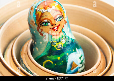 russian doll closeup - Stock Photo