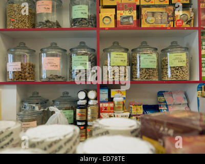 Traditional Chinese medicines are for sale at an Asian market in Albany, New York. - Stock Photo