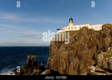 Neist Point is a popular viewpoint on the most westerly point of the Isle of Skye. Neist Point Lighthouse has been - Stock Photo