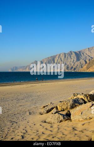 The beach of Bukha, Musandam, Oman - Stock Photo