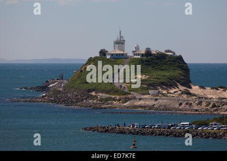 Nobbys Lighthouse Newcastle New South Wales Australia - Stock Photo
