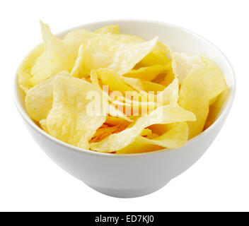 potato crisps / potato chips - Stock Photo