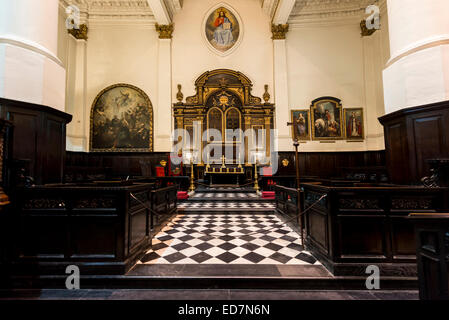The Wren Church of St Martin within Ludgate, a Christopher Wren designed church on Ludgate Hill - Stock Photo