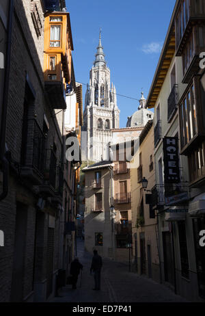 Toledo, Castilla–La Mancha, Spain.  The Primate Cathedral of Saint Mary of Toledo. - Stock Photo