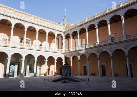 Interior patio of The Alcázar of Toledo, Toledo, Castilla–La Mancha, Spain. Home of the Museum of the Army. - Stock Photo