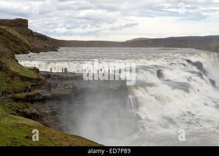 One of the main waterfalls of Iceland - Stock Photo