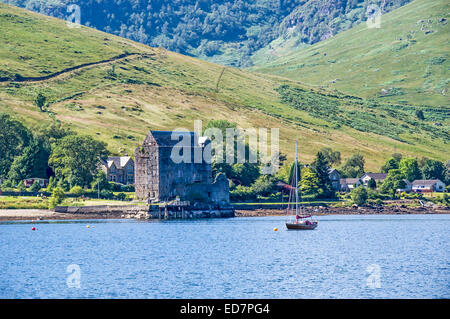 Carrick Castle on the shore of Loch Goil in Argyll and Bute Scotland - Stock Photo