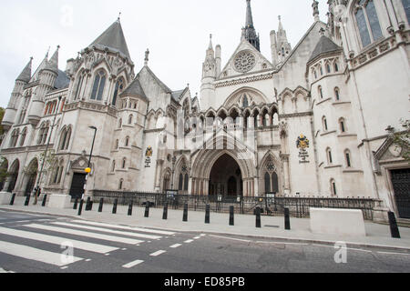 General View GV of The Royal Courts of Justice, home to the Court of Appeal and the High Court, Strand, London, - Stock Photo