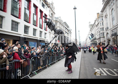 London, UK. 1st January, 2015. London's New Year's Day Parade 2015, London, England, UK Performers 'Under Your Own - Stock Photo