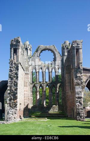 United Kingdom, Scotland, Elgin, Elgin Cathedral ruins - Stock Photo