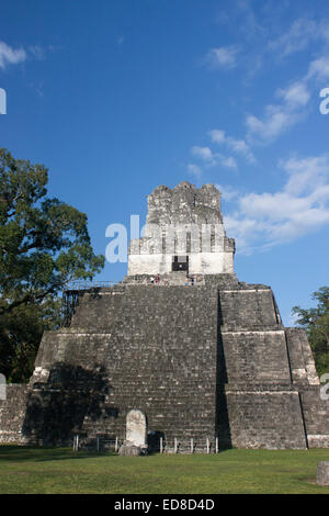 Guatemala, Peten Province, Tikal National Park, Temple II - Stock Photo