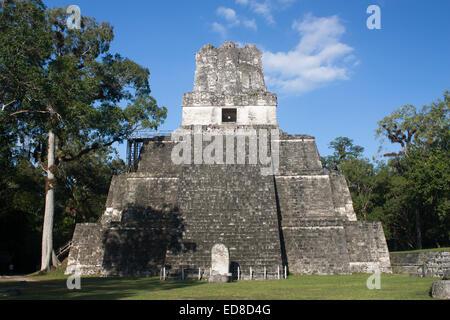 Guatemala, Peten Province, Tikal National Park, Temple II - Stock Photo
