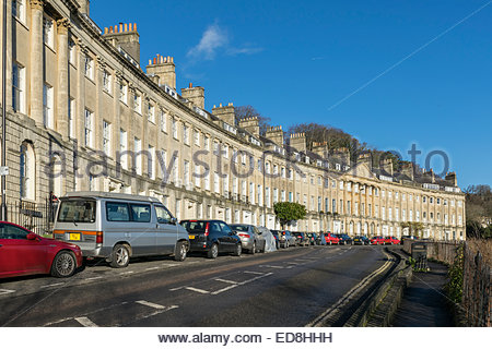 Camden Crescent in the city of Bath, Somerset, England - Stock Photo