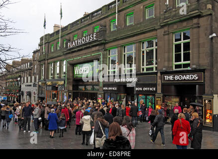 Scenes outside The Edinburgh Playhouse Theatre for the production of Wicked, Scotland, UK - Stock Photo