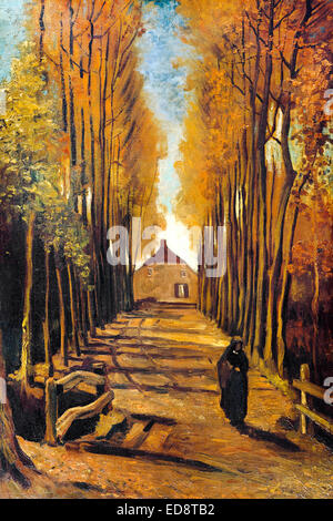 Vincent Van Gogh Avenue In The Park 1888 Post