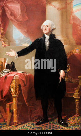 Gilbert Stuart, George Washington (Lansdowne Portrait) 1796 Oil on canvas. National Portrait Gallery, Washington, - Stock Photo