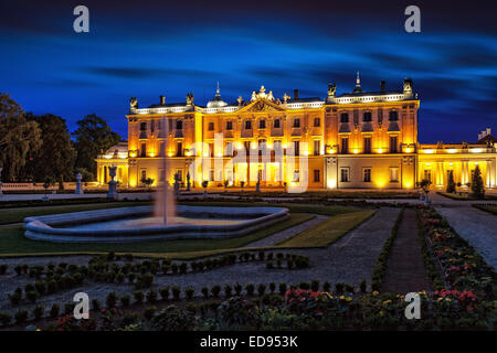 The Branicki Palace and park in Bialystok, Poland. - Stock Photo