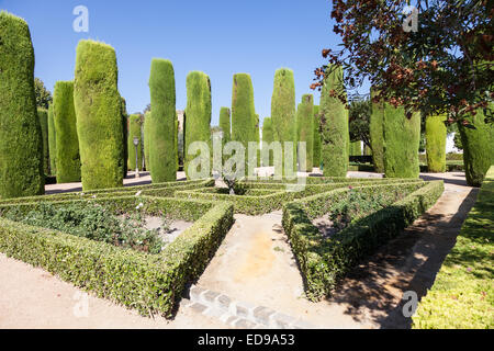 example of italian garden design during spring season stock photo