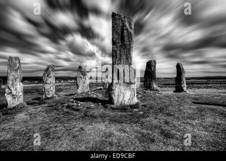 Callanish Stone Circle on the Isle of Harris in the Outer Hebrides, Scotland - Stock Photo