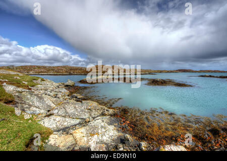 Rodel on the Isle of Harris, Outer Hebrides, Scotland - Stock Photo